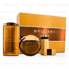 Bvlgari - Aqva Amara Coffret: Eau De Toilette Spray 100ml/3.4oz + Shampoo and Shower Gel 200ml/6.8oz + Eau De Toilette Spray 15ml/0.5oz