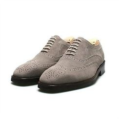 THE COVER - Genuine Suede Wing-Tip Oxfords