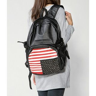 59 Seconds - Studded American Flag Backpack