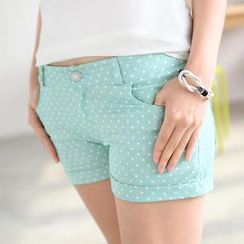 59 Seconds - Polka Dot Cuffed Shorts