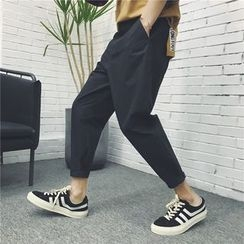 Soulcity - Plain Cropped Tapered Pants