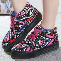 Renben - Patterned Canvas Sneakers