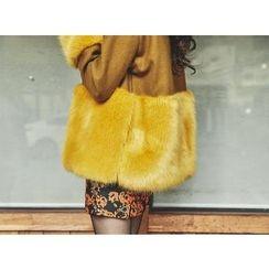 UUZONE - Faux-Fur Trim Jacket