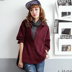 OrangeBear - Long-Sleeve Plaid Shirt