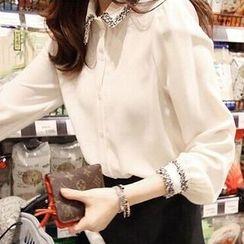lilygirl - 2016新款襯衣女韓版修身顯瘦氣質長袖打底襯衫