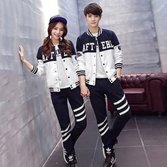 Lovebirds - Set: Couple Color-Block Jacket + Pants