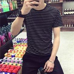 ZZP HOMME - Stripe Short-Sleeve T-Shirt