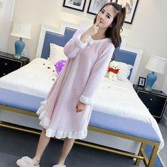 Clover Dream - Contrast Trim Pajama Dress