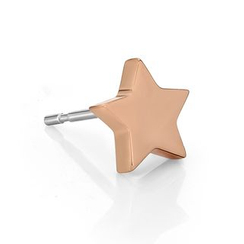 Kenny & co. - 14K Rose Gold Plated Steel Star Shape Earring (single)