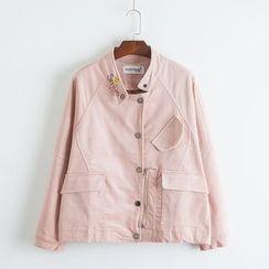 TOJI - Embroidered Button Jacket
