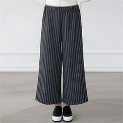 CHICFOX - Pinstriped Wide-Leg Pants