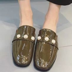 Crystella - Pearl Slide Loafers