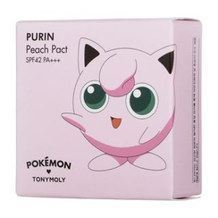 Tony Moly - Pokemon Purin Peach Pact SPF42 PA++ (#02 Cotton Beige)