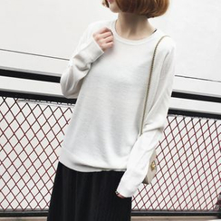 A7 SEVEN - Plain Loose Fit Sweater