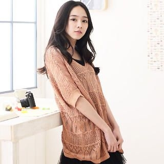 CatWorld - Oversized Open-Knit Top