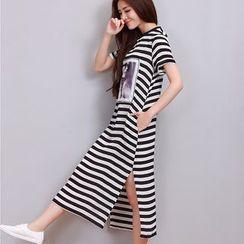 Yeeya - Stripe Midi T-Shirt Dress