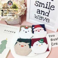March Daisy - 小童聖誕防滑紋襪子