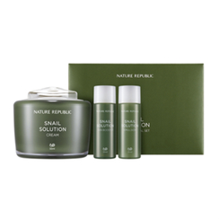 Nature Republic - Snail Solution Cream Set: Cream 55ml + Skin Booster 31ml + Emulsion 31ml