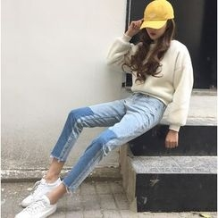 CosmoCorner - Cropped Straight Fit Jeans