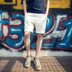 Ekinbrown - 純色短褲