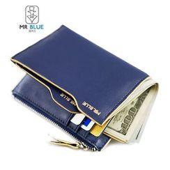 MR.BLUE - Contrast Trim Wallet