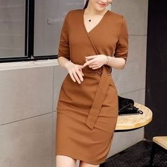 NINETTE - Belted Sheath Dress