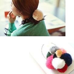 Azalea - Furry Ball Hair Tie