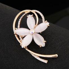 Glitglow - Jeweled Flower Brooch