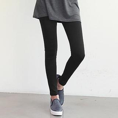 NANING9 - Elastic-Waist Leggings Pants