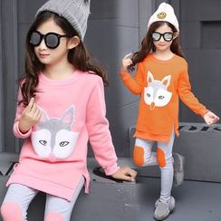 Princess House - Kids Set: Fox Long-Sleeve Top + Pants