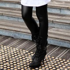 SO Central - Faux-Leather Leggings