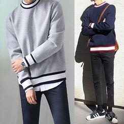 Streetstar - Stripe Trim Sweatshirt