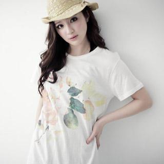'Flower' Print T-Shirt