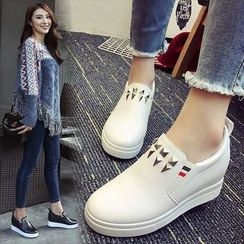 Max Dash - Studded Hidden Wedge Slip Ons