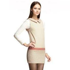 O.SA - Color-Block Sleeveless Dress
