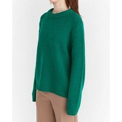 Someday, if - Round-Neck Wool Blend Sweater
