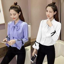 OGAWA - 蝴蝶结领衬衫