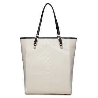 MBaoBao - Genuine-Leather Snake-Print Tote