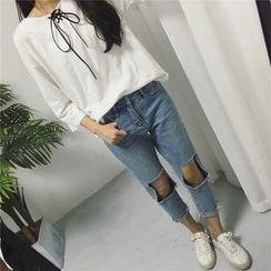 Kojasmine - Cutout Skinny Jeans