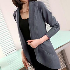 anzoveve - Open-Front Long Cardigan
