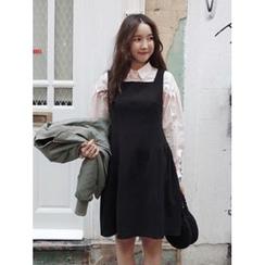 maybe-baby - Sleeveless Shirred-Hem A-Line Dress