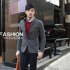 Mr Fashion - Mandarin Collar Blazer