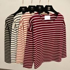 MISS LUCY - Long-Sleeve Striped T-Shirt