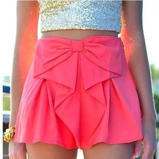 Charlotte - Plain Bow-Accent Shorts