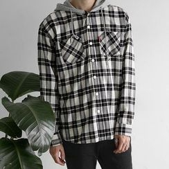 Seoul Homme - Hooded Check Shirt