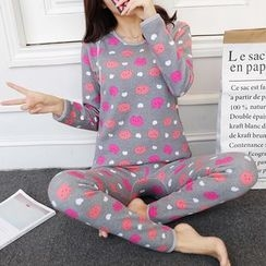 TSUKI - Maternity Loungewear Set: Long-Sleeve Top + Pants