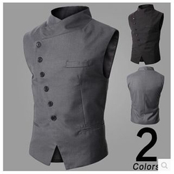 Hansel - Asymmetric Buttoned Vest