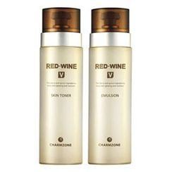 Charm Zone - RED-WINE V Set: Skin Toner 130ml + Emulsion 130ml