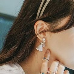 True Glam - Faux-Pearl Non-Matching Earrings