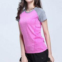 Giselle Shapewear - Sports Raglan Short-Sleeve T-Shirt